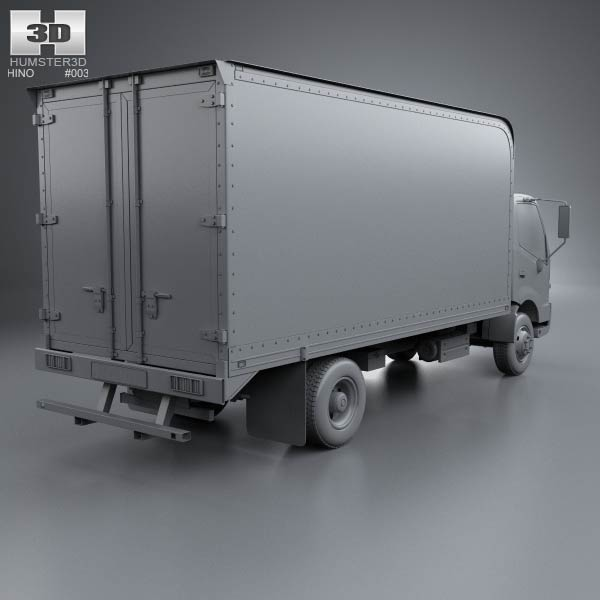 Hino 195 Hybrid Box Truck 2012 3d Model For Download In