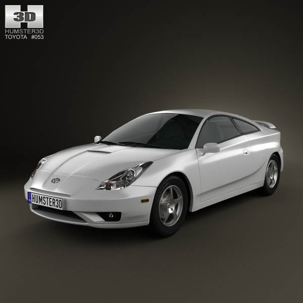 Toyota Celica Coupe 1600 Gt: Toyota Celica GT-S 2006 3D Model For Download In Various