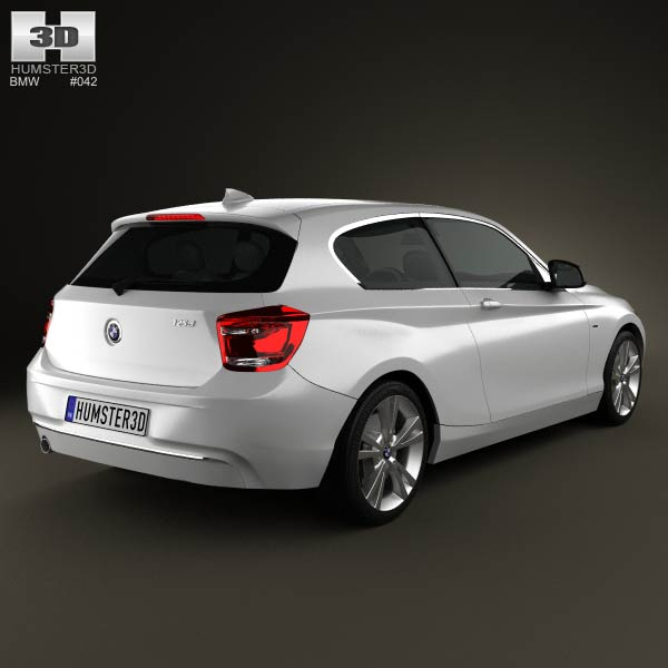 BMW 1 Series (F21) 3-door 2012 3D Model For Download In