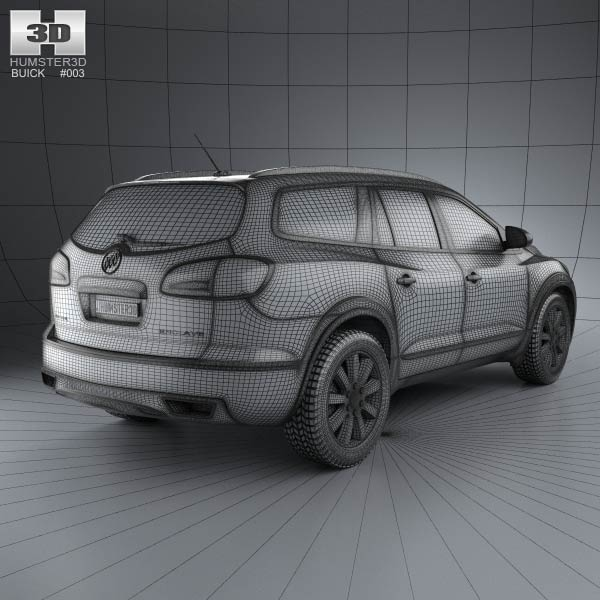 Buick Enclave 2013: Buick Enclave 2013 3D Model For Download In Various Formats