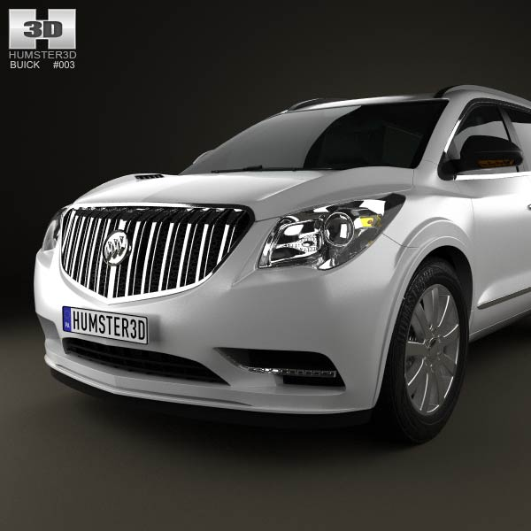 2013 Buicks: Buick Enclave 2013 3D Model For Download In Various Formats