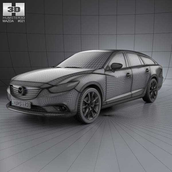 Mazda 6 Wagon 2013 3D Model For Download In Various Formats