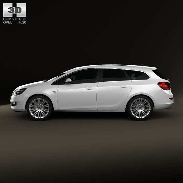 opel astra j sports tourer 2012 3d model for download in. Black Bedroom Furniture Sets. Home Design Ideas