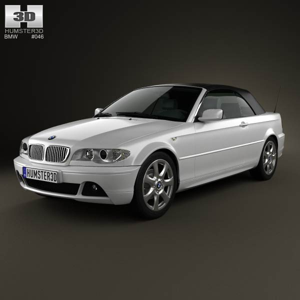 BMW 3 Series Convertible (E46) 2004 3D Model For Download