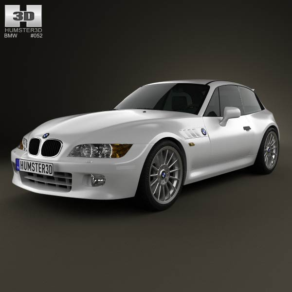 BMW Z3 Coupe (E36/8) 1999 3D Model For Download In Various