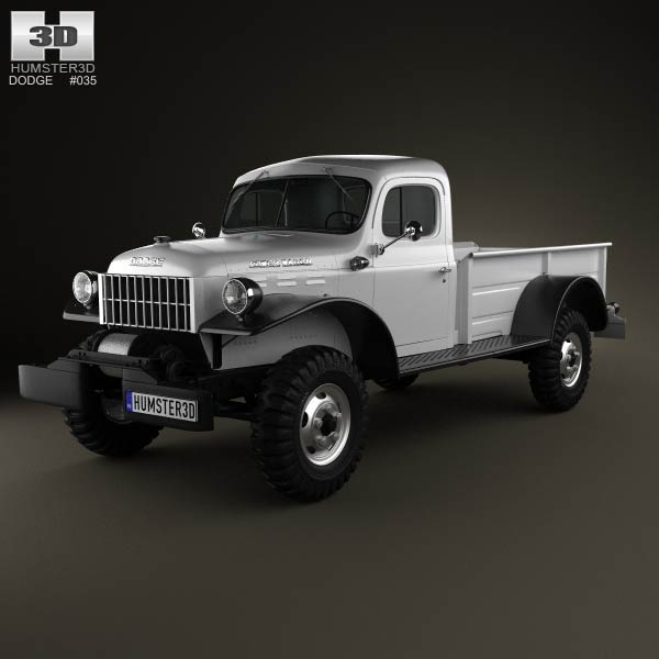 Dodge Power Wagon 1946 3d Model For Download In Various