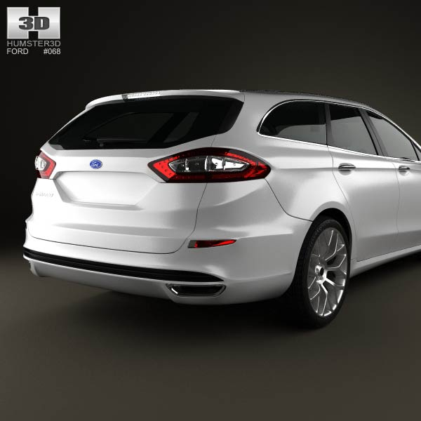Ford Fusion (Mondeo) Wagon 2013 3D Model For Download In