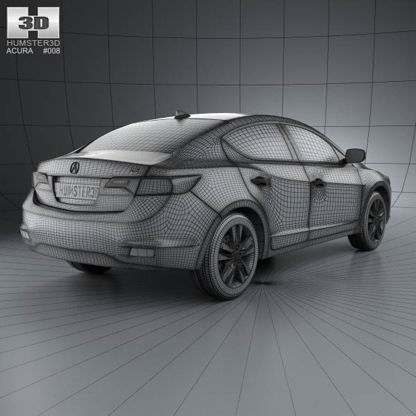 2013 Acura Rlx: Acura ILX 2013 3D Model For Download In Various Formats
