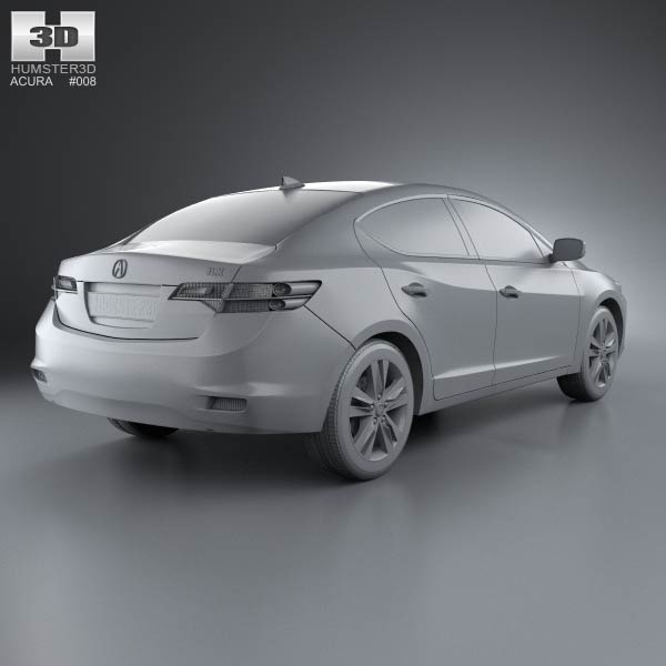 Acura ILX 2013 3D Model For Download In Various Formats