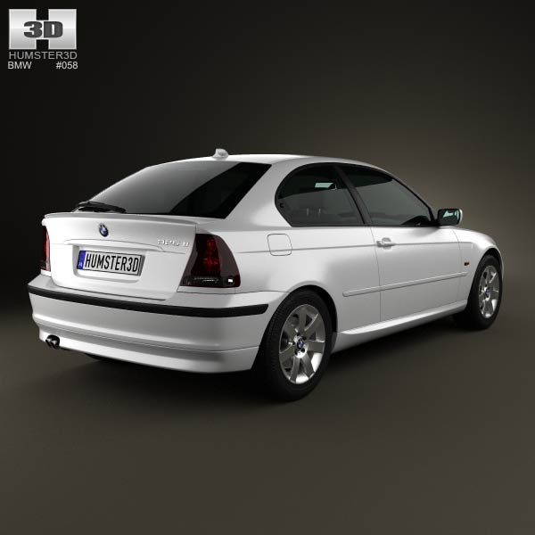 bmw 3 series compact e46 2004 3d model for download in various formats. Black Bedroom Furniture Sets. Home Design Ideas