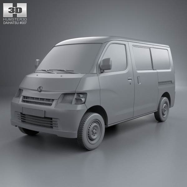 Daihatsu Gran Max Minibus 2012 3d Model For Download In