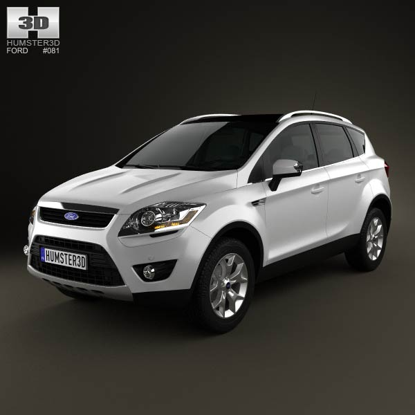 ford kuga 2012 3d model for download in various formats. Black Bedroom Furniture Sets. Home Design Ideas