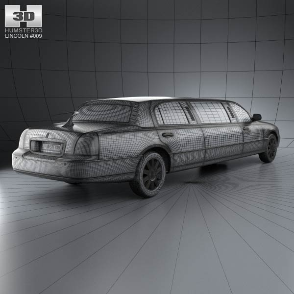 2011 Lincoln Town Car: Lincoln Town Car Limousine 2011 3D Model For Download In