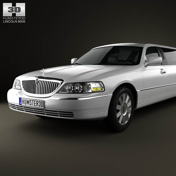 Lincoln Town Car Limousine 2011 3D Model For Download In