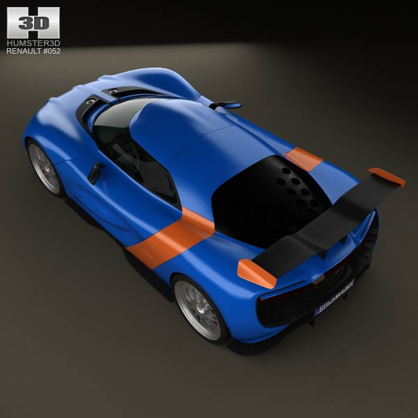 Sports Cars 2015 Renault Alpine A110 50 Supercar: Renault Alpine A110-50 2012 3D Model For Download In