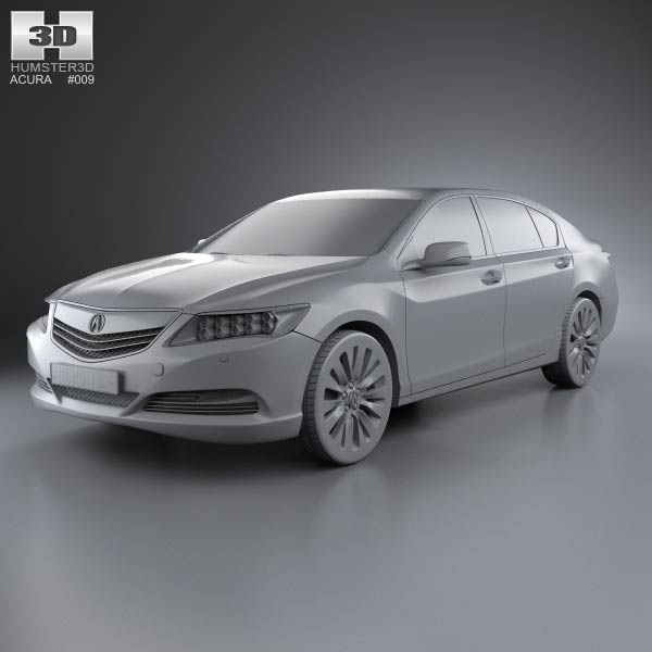 Acura RLX 2013 3D Model For Download In Various Formats