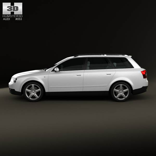 Audi A4 2002 Price: Audi A4 (B6) Avant 2002 3D Model For Download In Various
