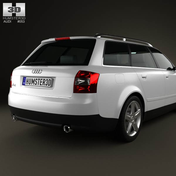 audi a4 b6 avant 2002 3d model for download in various formats. Black Bedroom Furniture Sets. Home Design Ideas