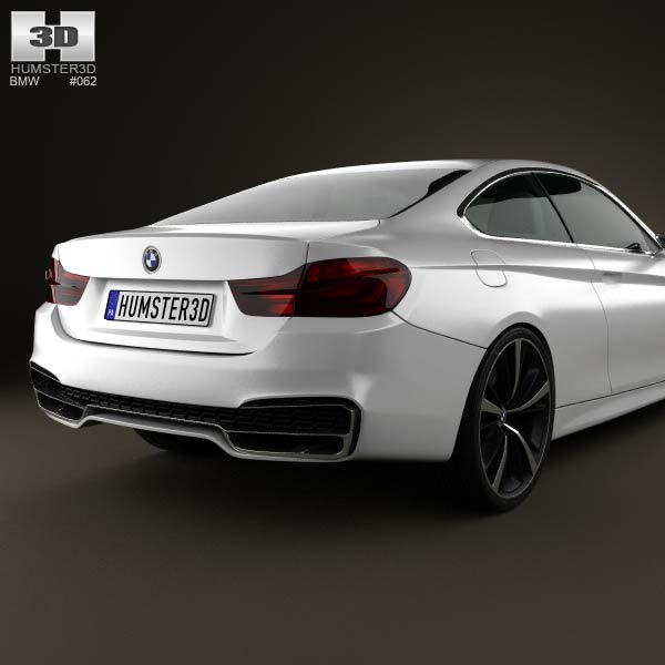 BMW 4 Series Coupe 2013 3D Model For Download In Various