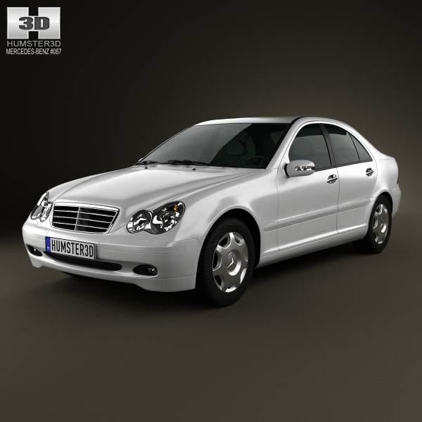 mercedes benz c class w203 sedan 2005 3d model for. Black Bedroom Furniture Sets. Home Design Ideas