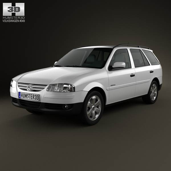 Volkswagen parati 2012 3d model for download in various for Parati in 3d