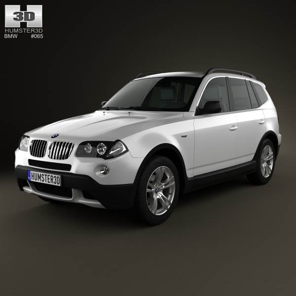 bmw x3 e83 2003 3d model for download in various formats. Black Bedroom Furniture Sets. Home Design Ideas