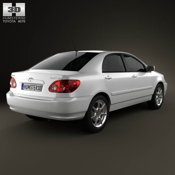 Toyota Corolla E120 2005 3d Model For Download In