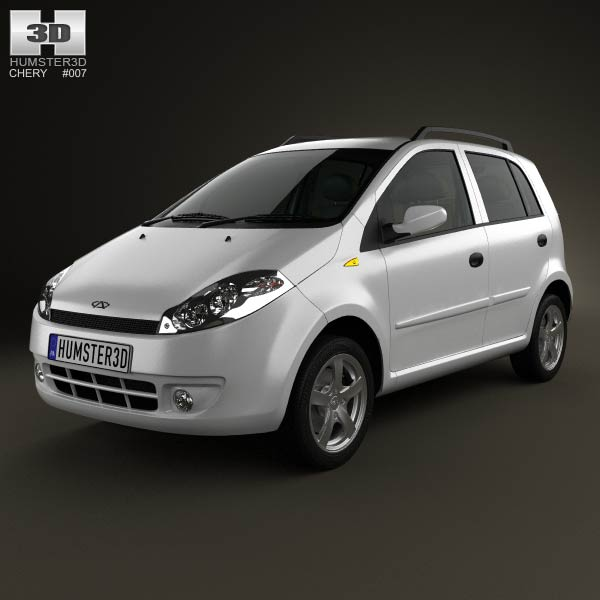 Chery A1 (J1) with HQ interior 2012 3D model for Download in