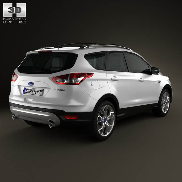 2013 Ford Escape Hybrid: Ford Escape With HQ Interior 2013 3D Model For Download In