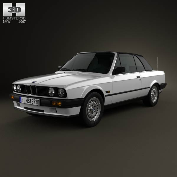 BMW 3 Series Convertible (E30) 1990 3D Model For Download