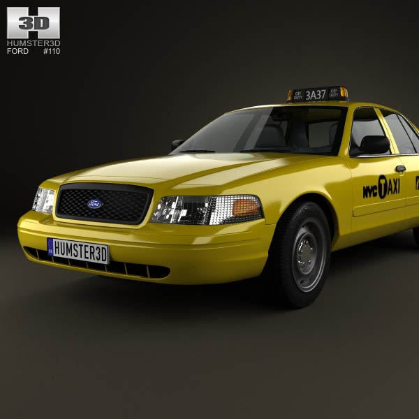 Ford crown victoria new york taxi 2005 3d model for for Ford models nyc
