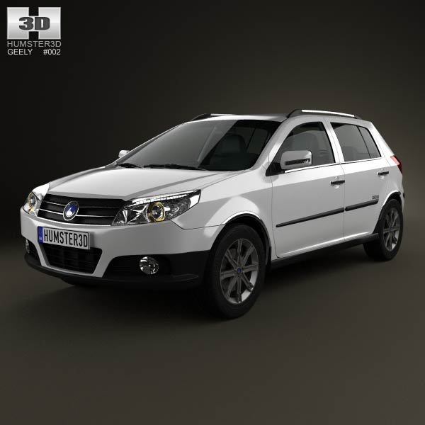 Geely MK Cross 2009 3D Model For Download In Various Formats