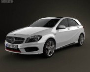 Mercedes-Benz A-class with HQ interior 2013