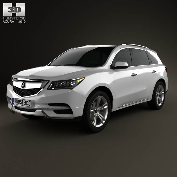 Acura MDX 2014 3D Model For Download In Various Formats