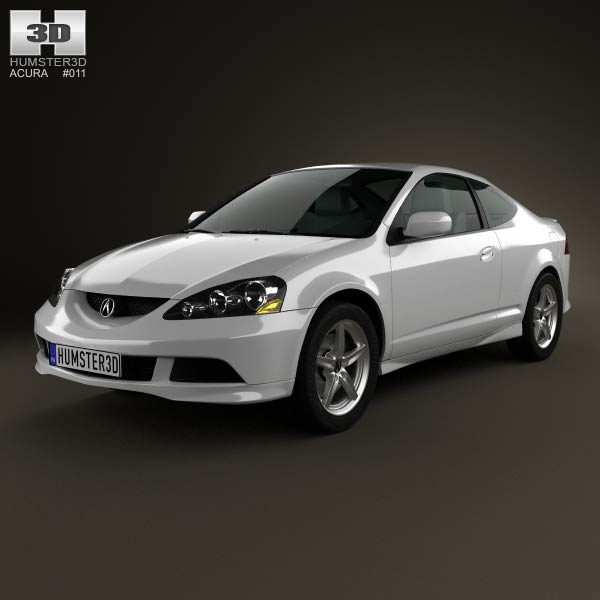 acura rsx type s 2005 3d model for download in various formats. Black Bedroom Furniture Sets. Home Design Ideas