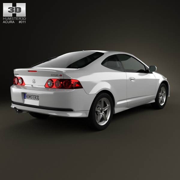 Acura RSX Type-S 2005 3D Model For Download In Various Formats