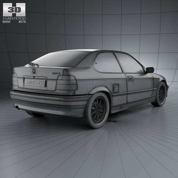 BMW 3 Series (E36) Compact 1994 3D Model For Download In
