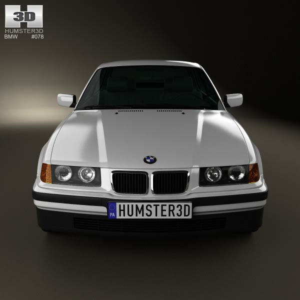 BMW 3 Series (E36) Coupe 1994 3D Model For Download In