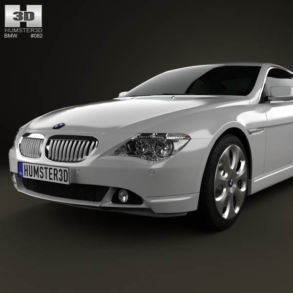 Bmw Zagato: BMW 6 Series (E63) Coupe 2004 3D Model For Download In
