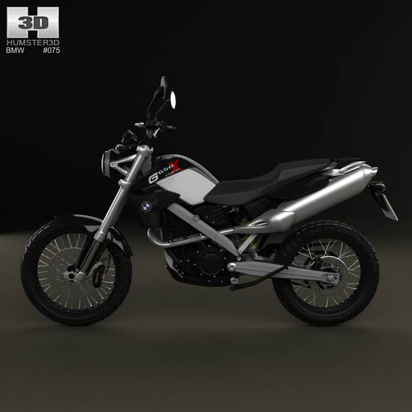 Bmw Xcountry: BMW G650X Country 2009 3D Model For Download In Various