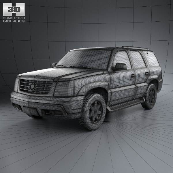 2002 Cadillac Escalade Ext For Sale: Cadillac Escalade 2002 3D Model For Download In Various
