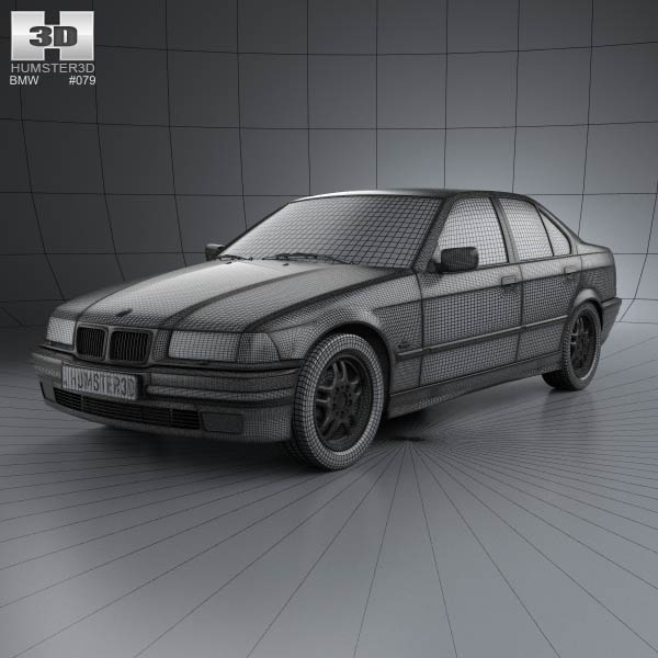 BMW 3 Series (E36) Sedan 1994 3D Model For Download In