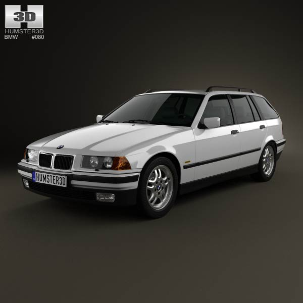 BMW 3 Series (E36) Touring 1994 3D Model For Download In