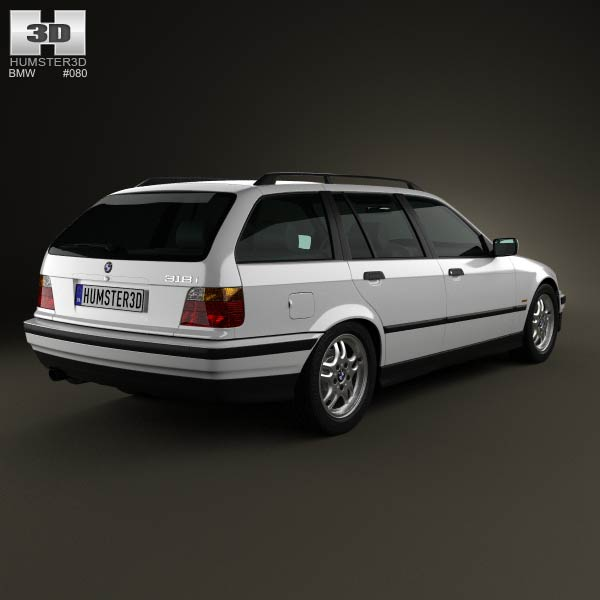Bmw Zagato Roadster: BMW 3 Series (E36) Touring 1994 3D Model For Download In