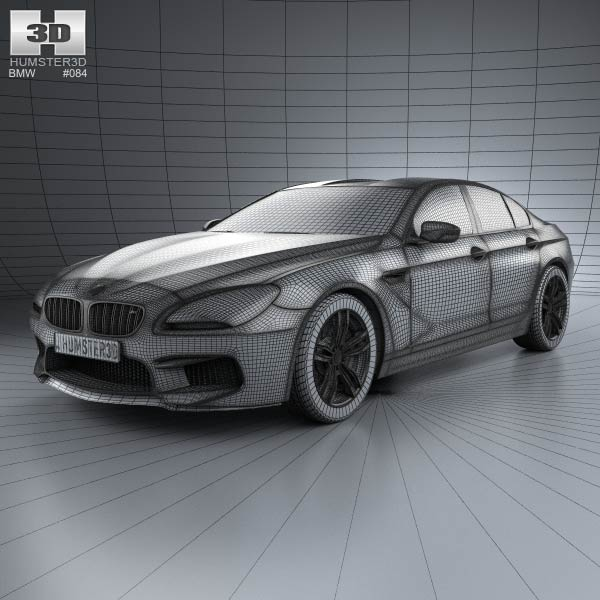 BMW M6 Gran Coupe (F06) 2013 3D Model For Download In