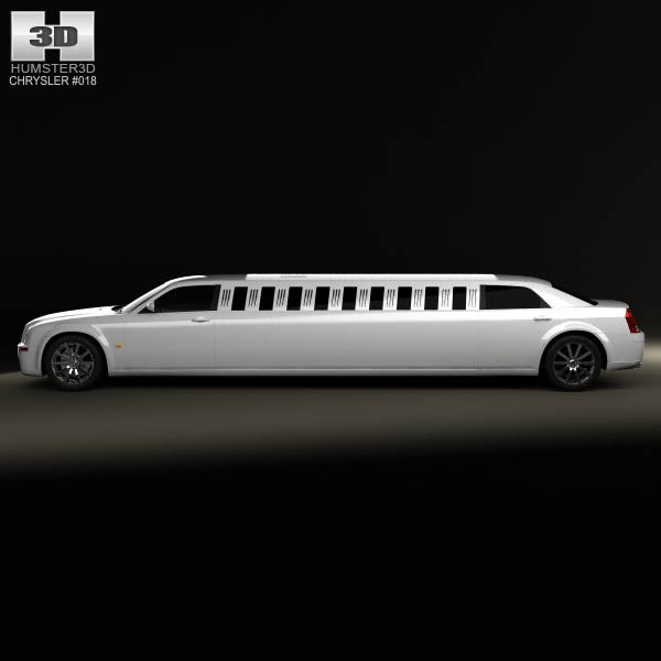 Chrysler 300C Limousine 2009 3D Model For Download In