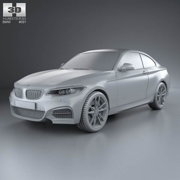 2014 Bmw 335i Coupe: BMW M2 Coupe (F22) 2014 3D Model For Download In Various