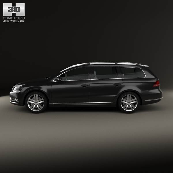 volkswagen passat b7 variant 2011 3d model for download. Black Bedroom Furniture Sets. Home Design Ideas