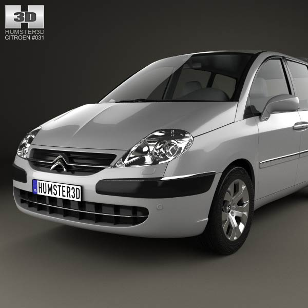 citroen c8 2002 3d model for download in various formats. Black Bedroom Furniture Sets. Home Design Ideas