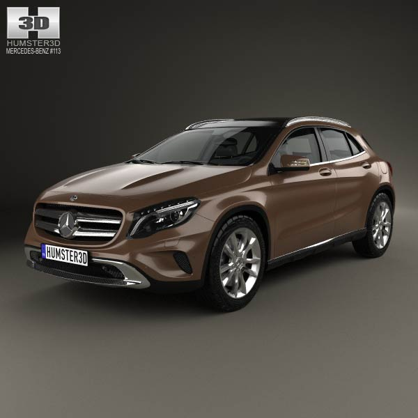 Mercedes-Benz GLA-class 2014 3D Model For Download In
